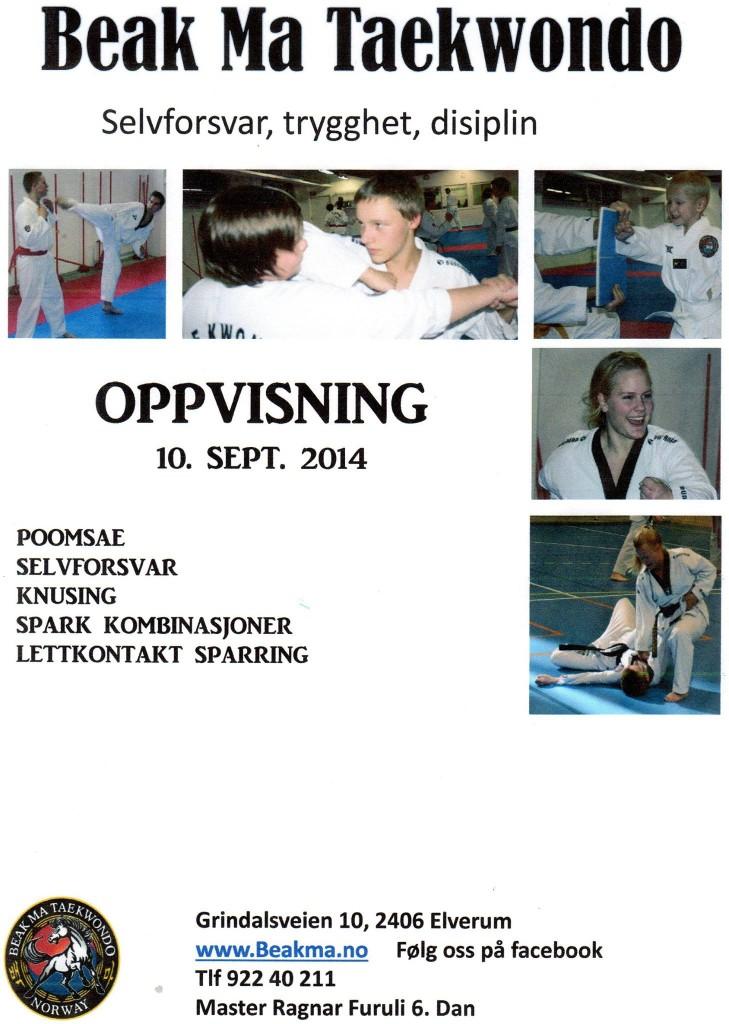 Den 10.09.2014 vil Beak Ma arrangere oppvisning